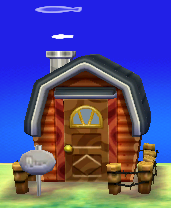 Exterior of Grizzly's house in Animal Crossing: New Leaf