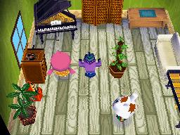 Interior of Gabi's house in Animal Crossing: Wild World