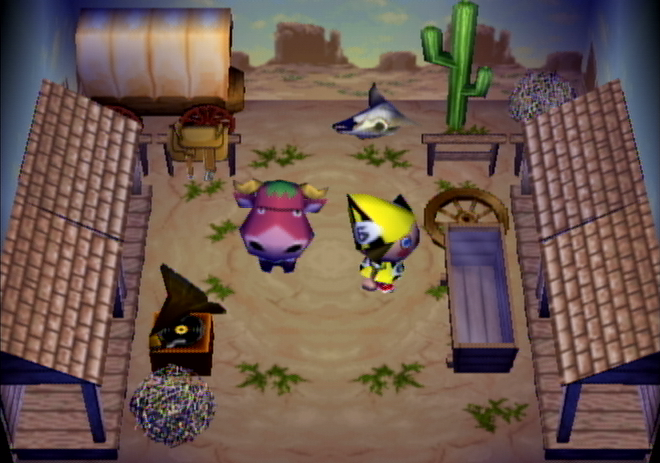 Interior of Oxford's house in Animal Crossing