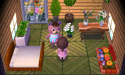 Interior of Ursala's house in Animal Crossing: New Leaf