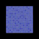 Blue Mosaic-Tile Flooring