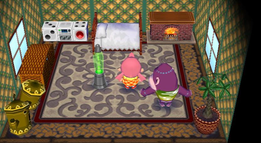 Interior of Violet's house in Animal Crossing: City Folk