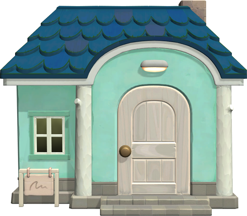Exterior of Bluebear's house in Animal Crossing: New Horizons