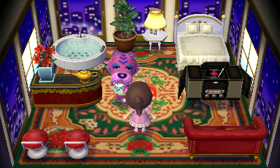 Interior of Claudia's house in Animal Crossing: New Leaf