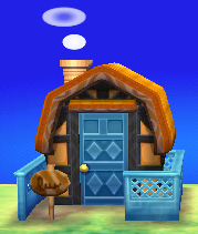 Exterior of Robin's house in Animal Crossing: New Leaf