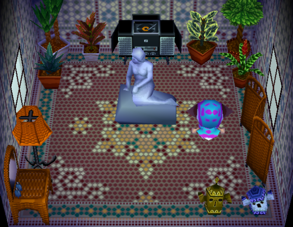 Interior of Cleo's house in Animal Crossing
