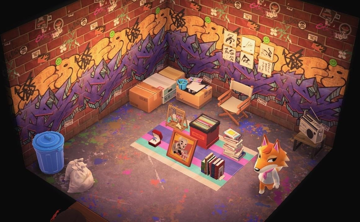 Interior of Chief's house in Animal Crossing: New Horizons
