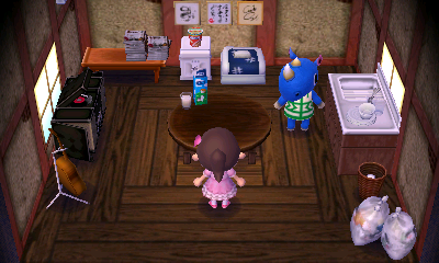 Interior of Hornsby's house in Animal Crossing: New Leaf