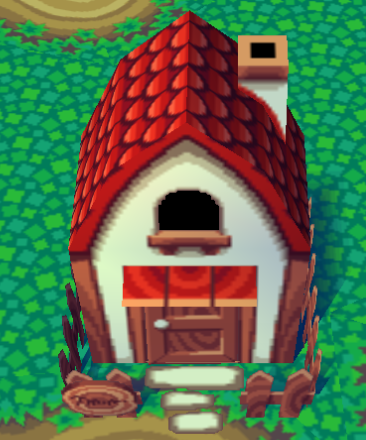 Exterior of Emerald's house in Animal Crossing