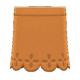 Cut-Pleather Skirt