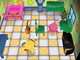Interior of Eloise's house in Animal Crossing: Wild World