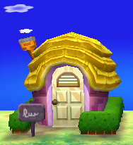 Exterior of Maggie's house in Animal Crossing: New Leaf