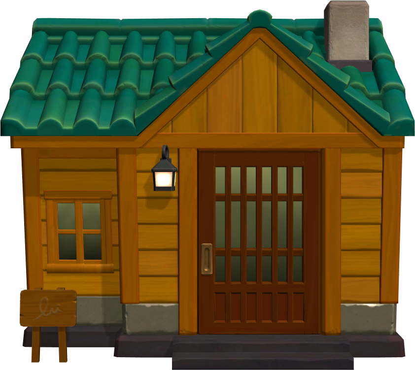 Exterior of Kevin's house in Animal Crossing: New Horizons