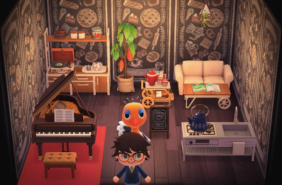 Interior of Sandy's house in Animal Crossing: New Horizons