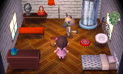 Interior of Vivian's house in Animal Crossing: New Leaf