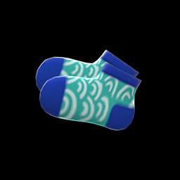 Wave-Print Socks