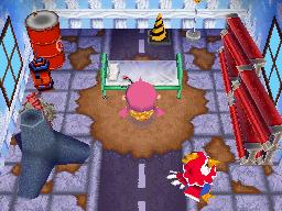 Interior of Benedict's house in Animal Crossing: Wild World