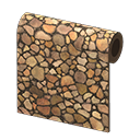 Stacked-Wood Wall