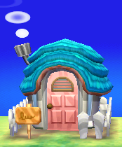 Exterior of Chai's house in Animal Crossing: New Leaf