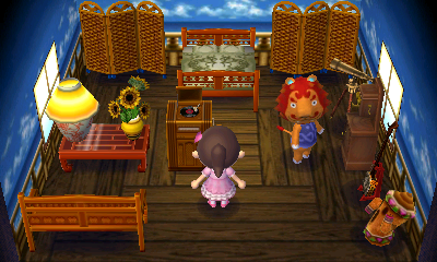 Interior of Rory's house in Animal Crossing: New Leaf