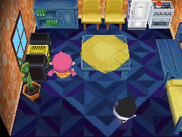 Interior of Punchy's house in Animal Crossing: Wild World