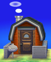 Exterior of Cesar's house in Animal Crossing: New Leaf