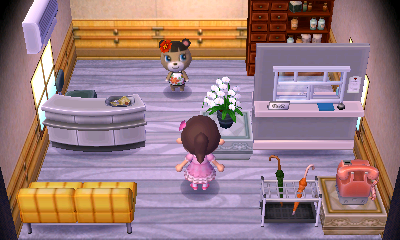 Interior of June (villager)'s house in Animal Crossing: New Leaf