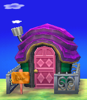 Exterior of Pango's house in Animal Crossing: New Leaf