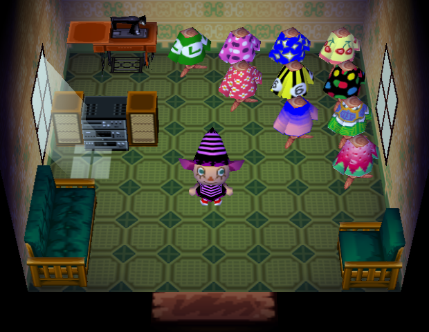 Interior of Alli's house in Animal Crossing