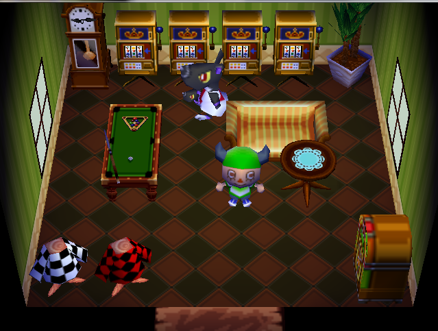 Interior of Mathilda's house in Animal Crossing