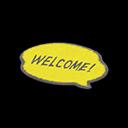 Yellow Message Mat