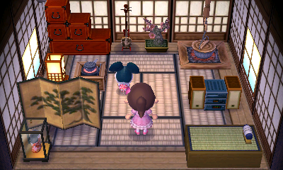 Interior of Greta's house in Animal Crossing: New Leaf