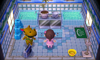 Interior of Harry's house in Animal Crossing: New Leaf