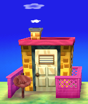 Exterior of Chelsea's house in Animal Crossing: New Leaf