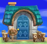 Exterior of Tom's house in Animal Crossing: New Leaf