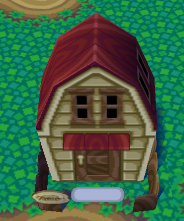 Exterior of Hank's house in Animal Crossing