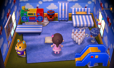 Interior of Hamlet's house in Animal Crossing: New Leaf