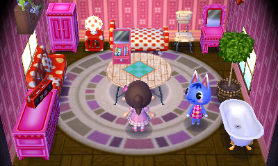 Interior of Rosie's house in Animal Crossing: New Leaf