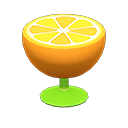Orange End Table