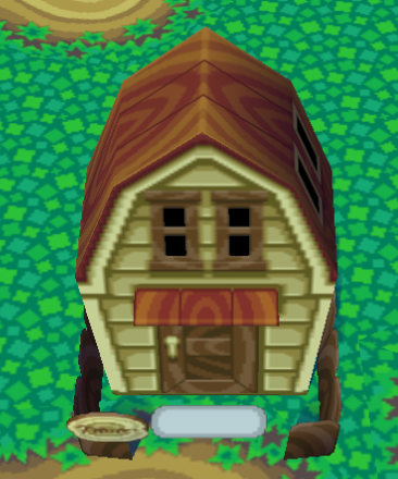 Exterior of Mitzi's house in Animal Crossing