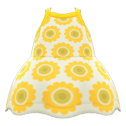 Sunflower Dress New Horizons Animal Crossing Wiki Nookipedia