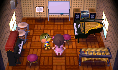 Interior of Deena's house in Animal Crossing: New Leaf