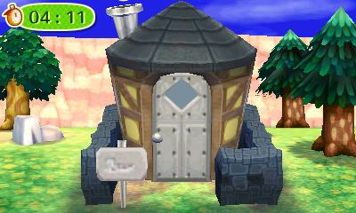 Exterior of Klaus's house in Animal Crossing: New Leaf
