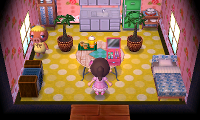 Interior of Pancetti's house in Animal Crossing: New Leaf