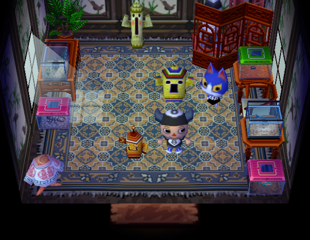 Interior of Tom's house in Animal Crossing