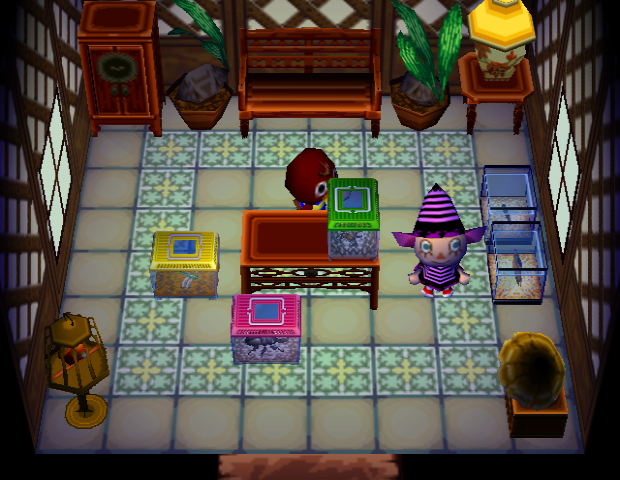 Interior of Bill's house in Animal Crossing