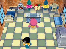Interior of Cube's house in Animal Crossing: Wild World