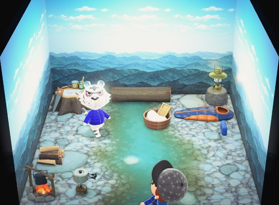 Interior of Rolf's house in Animal Crossing: New Horizons