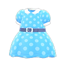 Belted Dotted Dress