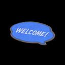 Blue Message Mat
